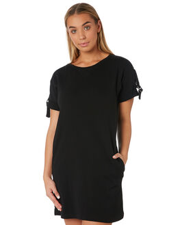 BLACK WOMENS CLOTHING RUSTY DRESSES - DRL0966BLK