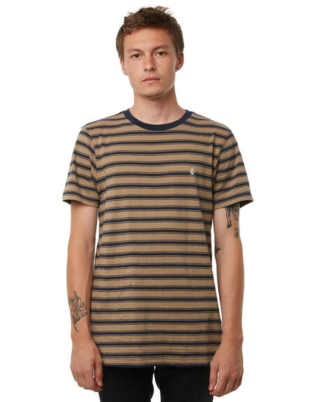 SAND BROWN MENS CLOTHING VOLCOM TEES - A0111802SND