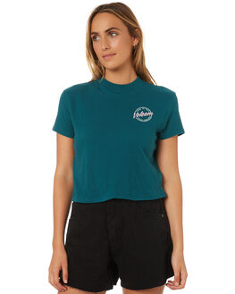 TEAL GREEN WOMENS CLOTHING VOLCOM TEES - B35318V1AST