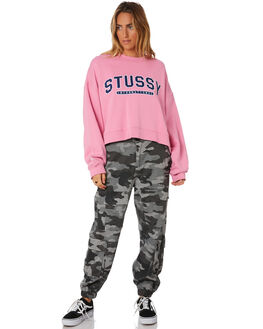 MID PINK WOMENS CLOTHING STUSSY JUMPERS - ST196320MPNK