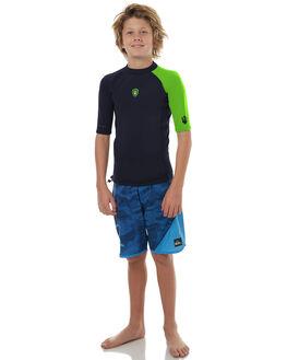 BLACK LIGHT GREEN BOARDSPORTS SURF FAR KING BOYS - 2162BLG