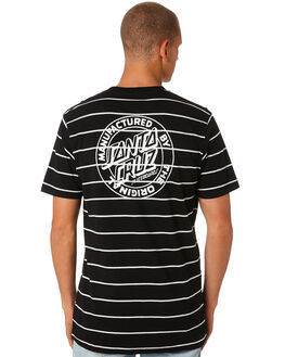 BLACK MENS CLOTHING SANTA CRUZ TEES - SC-MTD8002BLK