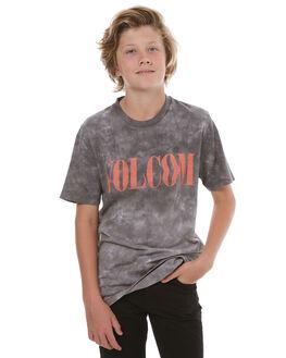 BLACK KIDS BOYS VOLCOM TEES - C4331773BLK