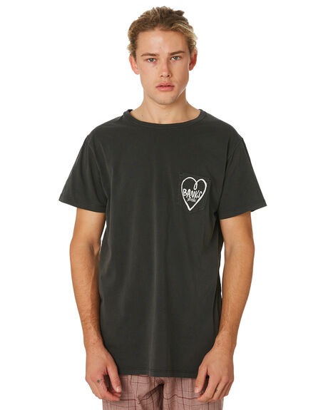 DIRTY BLACK MENS CLOTHING BANKS TEES - WTS0381DBL