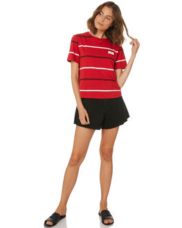 RED WOMENS CLOTHING ELEMENT TEES - 284011RED