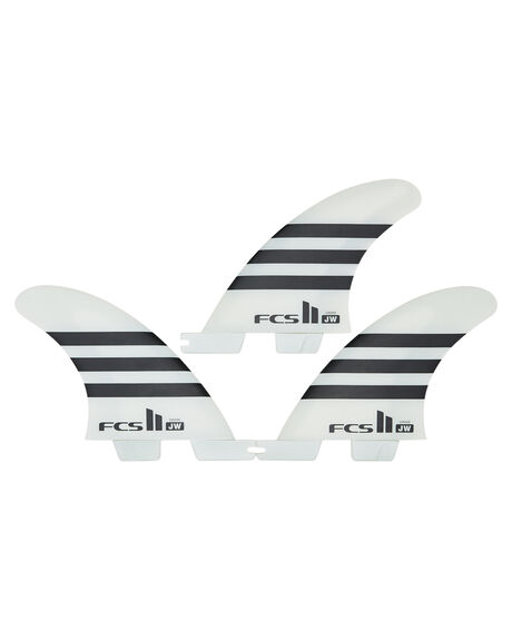 BLACK WHITE BOARDSPORTS SURF FCS FINS - FJWG-PC02-GM-BLKWH