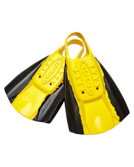 BLACK YELLOW BOARDSPORTS SURF HYDRO ACCESSORIES - TFINBYL