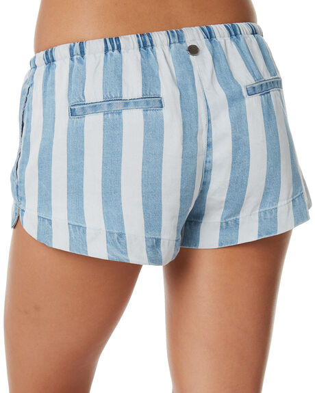 BLEACH STRIPE OUTLET WOMENS ALL ABOUT EVE SHORTS - 6423073STR
