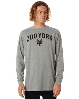 GREY HEATHER MENS CLOTHING ZOO YORK TEES - ZY-MLB8114GHTR