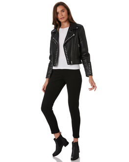BLACK WOMENS CLOTHING ELWOOD JACKETS - W92505BLK