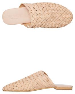 BLUSH WOMENS FOOTWEAR WALNUT SLIDES - VIENNABLUSH