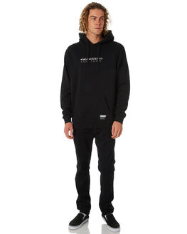 BLACK MENS CLOTHING ZOO YORK JUMPERS - ZY-MFB8093BLK