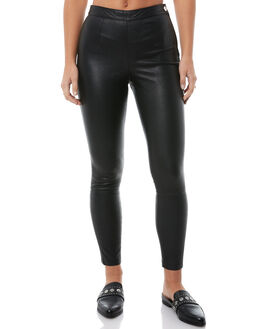 BLACK LEATHER WOMENS CLOTHING NEUW PANTS - 376993466