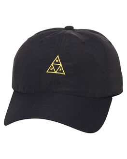 BLACK MENS ACCESSORIES HUF HEADWEAR - HT00117BLK