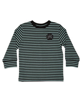 GREEN BLACK KIDS BOYS ALPHABET SOUP TOPS - AS-KLA8294GRNBK