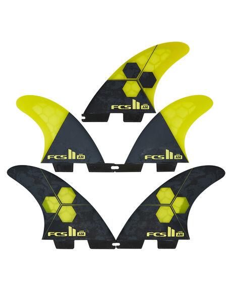 YELLOW BOARDSPORTS SURF FCS FINS - FAML-PC04-LG-FS-RYEL