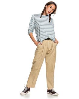 CERULEAN STRIPES WOMENS CLOTHING QUIKSILVER TEES - EQWKT03050-BFN3