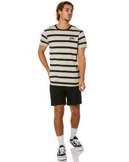 DIRTY BLACK MENS CLOTHING BANKS TEES - WTS0454DBL