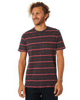 WASHED BLACK MENS CLOTHING RIP CURL TEES - CTEOM28264