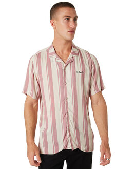 ROSE STRIPE MENS CLOTHING BARNEY COOLS SHIRTS - 315-CC2-ROSE