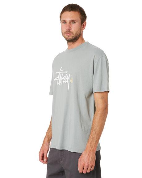 SAFARI GREEN MENS CLOTHING STUSSY TEES - ST016111SAFGR