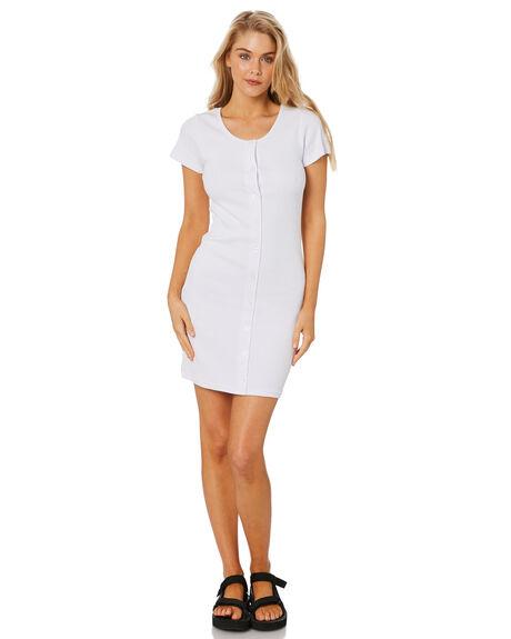 WHITE OUTLET WOMENS STUSSY DRESSES - ST1M0195WHT