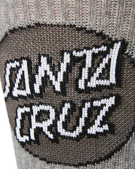 GREY HEATHER MENS CLOTHING SANTA CRUZ SOCKS + UNDERWEAR - SC-MZNC099GRYH