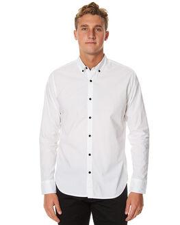 WHITE MENS CLOTHING OURCASTE SHIRTS - W1034WHT