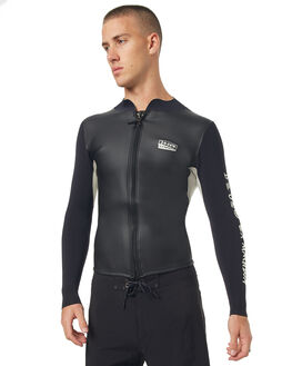 BLACK WHITE SURF WETSUITS DEUS EX MACHINA VESTS - DMS71218BLKWH