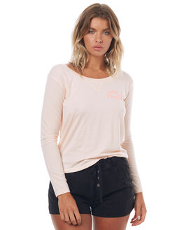 PALE DOGWOOD HEATHER WOMENS CLOTHING ROXY TEES - ERJKT03317NDSH