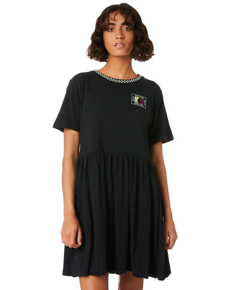 BLACK WOMENS CLOTHING VOLCOM DRESSES - B1341805BLK
