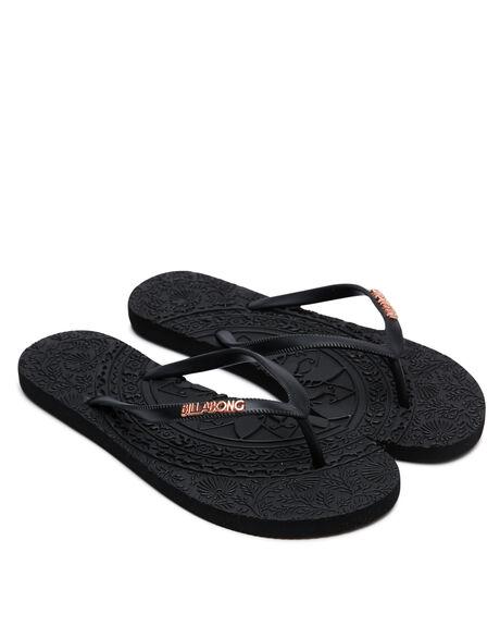 BLACK WOMENS FOOTWEAR BILLABONG THONGS - 6617805BLK