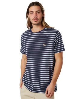 NAVY STRIPE MENS CLOTHING BARNEY COOLS TEES - 107-CR2NSTRP