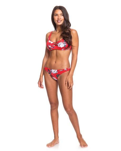 CHINESE RED TROPICAL WOMENS SWIMWEAR ROXY BIKINI TOPS - ERJX304056-RQQ6