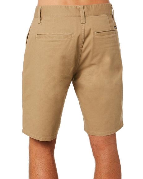 KHAKI MENS CLOTHING BRIXTON SHORTS - 04215KHAKI