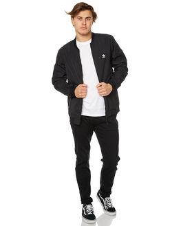 BLACK MENS CLOTHING ADIDAS ORIGINALS JACKETS - BR4027BLK
