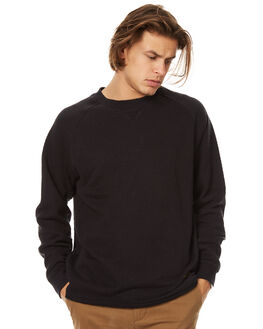 BLACK MENS CLOTHING AFENDS JUMPERS - 06-03-072BLK