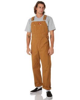 RINSED BROWN DUCK MENS CLOTHING DICKIES PANTS - DB100RBD