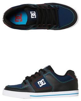 BLACK BLUE KIDS BOYS DC SHOES SNEAKERS - ADBS300267XKBR