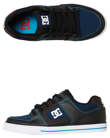 BLACK BLUE KIDS BOYS DC SHOES SNEAKERS - ADBS300267XKBR