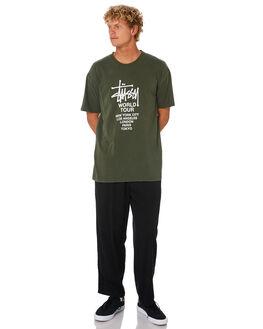 FLIGHT GREEN MENS CLOTHING STUSSY TEES - ST005000FLGRN