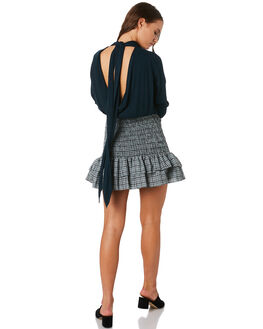 BUCKINGHAM CHECK WOMENS CLOTHING MLM LABEL SKIRTS - MLM512BBUC