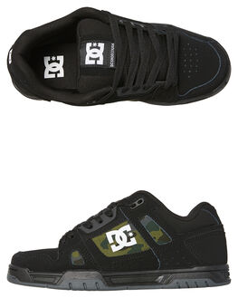 BLACK MILITARY CAMO MENS FOOTWEAR DC SHOES SKATE SHOES - ADYS100443BLM
