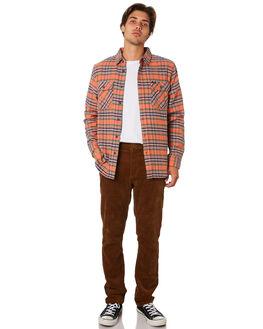 SALMON NAVY MENS CLOTHING BRIXTON SHIRTS - 01000SANAV