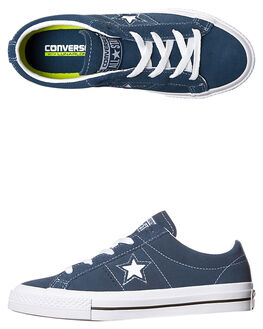 NAVY WHITE KIDS BOYS CONVERSE SNEAKERS - 353062NVY
