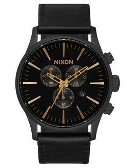 MATTE BLACK GOLD MENS ACCESSORIES NIXON WATCHES - A405-3088-BLKGD