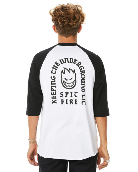 WHITE MENS CLOTHING SPITFIRE TEES - SRCKNLSTEEWHT