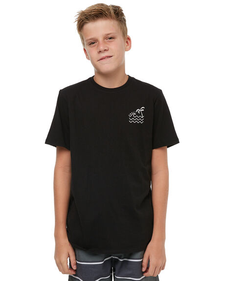 BLACK KIDS BOYS SWELL TOPS - S3183000BLACK