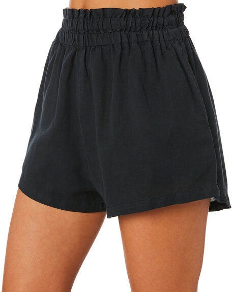 WASHED BLACK WOMENS CLOTHING SWELL SHORTS - S8201196BKWSH