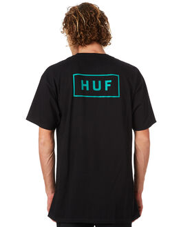 BLACK MENS CLOTHING HUF TEES - HUF-TS00340-BLK